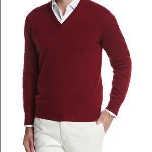 Loro Piana Scollo V Classic Cashmere Sweater